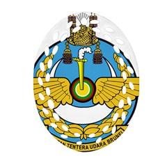 Emblem Of Royal Brunei Air Force Ornament (oval Filigree) by abbeyz71