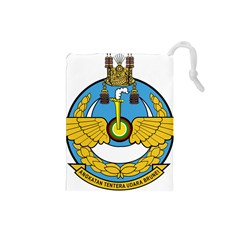 Emblem Of Royal Brunei Air Force Drawstring Pouches (small)  by abbeyz71