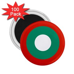 Bulgarian Air Force Roundel 2 25  Magnets (100 Pack)  by abbeyz71