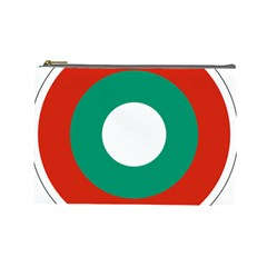 Bulgarian Air Force Roundel Cosmetic Bag (large)  by abbeyz71