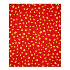 Yellow Stars Red Background Shower Curtain 60  X 72  (medium)  by Sapixe