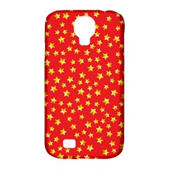 Yellow Stars Red Background Samsung Galaxy S4 Classic Hardshell Case (pc+silicone) by Sapixe
