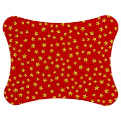 Yellow Stars Red Background Jigsaw Puzzle Photo Stand (bow) by Sapixe