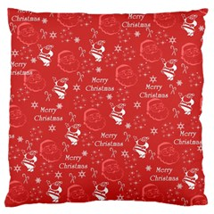 Santa Christmas Collage Large Cushion Case (two Sides) by Sapixe