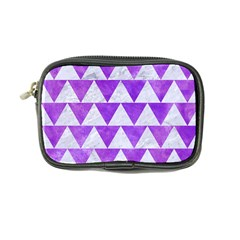 Triangle2 White Marble & Purple Watercolor Coin Purse by trendistuff
