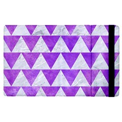 Triangle2 White Marble & Purple Watercolor Apple Ipad Pro 12 9   Flip Case