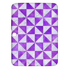 Triangle1 White Marble & Purple Watercolor Samsung Galaxy Tab 3 (10 1 ) P5200 Hardshell Case  by trendistuff