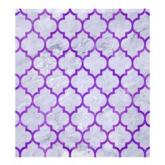 Tile1 White Marble & Purple Watercolor (r) Shower Curtain 66  X 72  (large)  by trendistuff