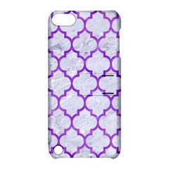Tile1 White Marble & Purple Watercolor (r) Apple Ipod Touch 5 Hardshell Case With Stand by trendistuff