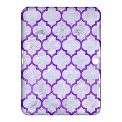 Tile1 White Marble & Purple Watercolor (r) Samsung Galaxy Tab 4 (10 1 ) Hardshell Case  by trendistuff