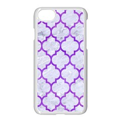 Tile1 White Marble & Purple Watercolor (r) Apple Iphone 8 Seamless Case (white)