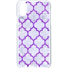 Tile1 White Marble & Purple Watercolor (r) Apple Iphone X Seamless Case (white)