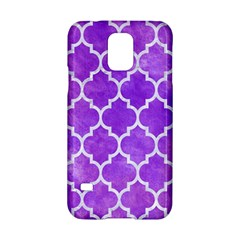 Tile1 White Marble & Purple Watercolor Samsung Galaxy S5 Hardshell Case