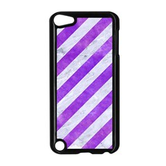 Stripes3 White Marble & Purple Watercolor (r) Apple Ipod Touch 5 Case (black) by trendistuff