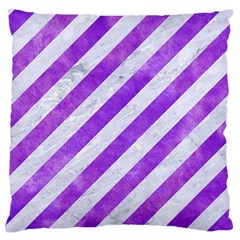 Stripes3 White Marble & Purple Watercolor (r) Standard Flano Cushion Case (one Side) by trendistuff
