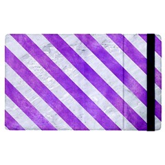 Stripes3 White Marble & Purple Watercolor Apple Ipad Pro 9 7   Flip Case