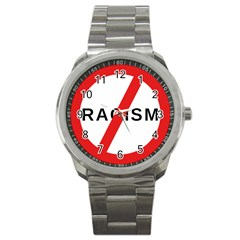 No Racism Sport Metal Watch by demongstore