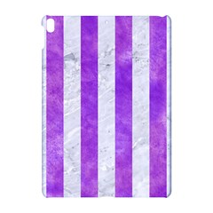 Stripes1 White Marble & Purple Watercolor Apple Ipad Pro 10 5   Hardshell Case