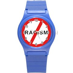 No Racism Round Plastic Sport Watch (s) by demongstore