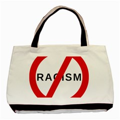 No Racism Basic Tote Bag by demongstore