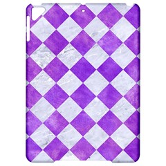 Square2 White Marble & Purple Watercolor Apple Ipad Pro 9 7   Hardshell Case