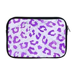 Skin5 White Marble & Purple Watercolor Apple Macbook Pro 17  Zipper Case by trendistuff
