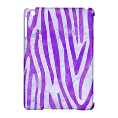 Skin4 White Marble & Purple Watercolor Apple Ipad Mini Hardshell Case (compatible With Smart Cover) by trendistuff