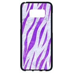 Skin3 White Marble & Purple Watercolor (r) Samsung Galaxy S8 Black Seamless Case