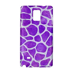 Skin1 White Marble & Purple Watercolor (r) Samsung Galaxy Note 4 Hardshell Case