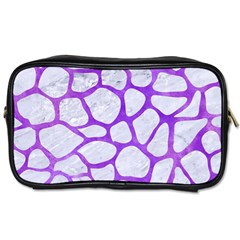 Skin1 White Marble & Purple Watercolor Toiletries Bags 2 Side by trendistuff