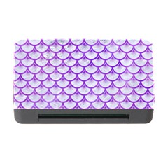 Scales3 White Marble & Purple Watercolor (r) Memory Card Reader With Cf by trendistuff