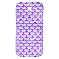 Scales3 White Marble & Purple Watercolor (r) Samsung Galaxy S3 S Iii Classic Hardshell Back Case by trendistuff
