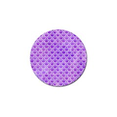 Scales2 White Marble & Purple Watercolor Golf Ball Marker by trendistuff