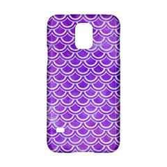Scales2 White Marble & Purple Watercolor Samsung Galaxy S5 Hardshell Case