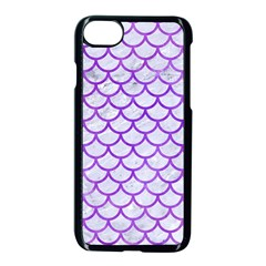 Scales1 White Marble & Purple Watercolor (r) Apple Iphone 8 Seamless Case (black) by trendistuff