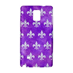Royal1 White Marble & Purple Watercolor (r) Samsung Galaxy Note 4 Hardshell Case by trendistuff