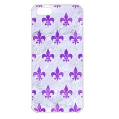 Royal1 White Marble & Purple Watercolor Apple Iphone 5 Seamless Case (white) by trendistuff
