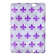 Royal1 White Marble & Purple Watercolor Kindle Fire Hdx 8 9  Hardshell Case by trendistuff