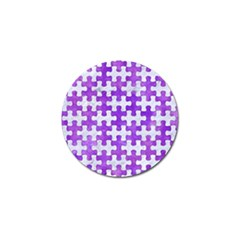 Puzzle1 White Marble & Purple Watercolor Golf Ball Marker (10 Pack) by trendistuff