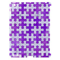 Puzzle1 White Marble & Purple Watercolor Apple Ipad 3/4 Hardshell Case (compatible With Smart Cover) by trendistuff