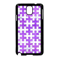 Puzzle1 White Marble & Purple Watercolor Samsung Galaxy Note 3 Neo Hardshell Case (black) by trendistuff