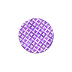 Houndstooth2 White Marble & Purple Watercolor Golf Ball Marker by trendistuff