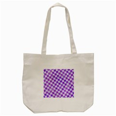 Houndstooth2 White Marble & Purple Watercolor Tote Bag (cream) by trendistuff
