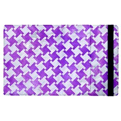 Houndstooth2 White Marble & Purple Watercolor Apple Ipad Pro 12 9   Flip Case