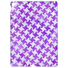Houndstooth2 White Marble & Purple Watercolor Apple Ipad Pro 12 9   Hardshell Case