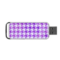 Houndstooth1 White Marble & Purple Watercolor Portable Usb Flash (one Side) by trendistuff