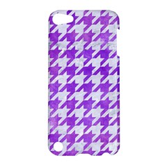 Houndstooth1 White Marble & Purple Watercolor Apple Ipod Touch 5 Hardshell Case by trendistuff