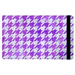 Houndstooth1 White Marble & Purple Watercolor Apple Ipad Pro 9 7   Flip Case by trendistuff