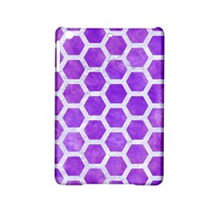 Hexagon2 White Marble & Purple Watercolor Ipad Mini 2 Hardshell Cases by trendistuff