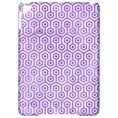 Hexagon1 White Marble & Purple Watercolor (r) Apple Ipad Pro 9 7   Hardshell Case